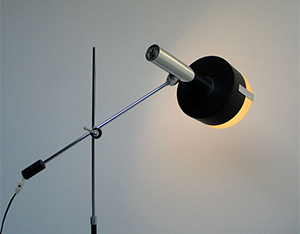Black Architectural Floor lamp 1960