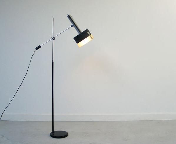 Black Architectural Floor lamp 1960