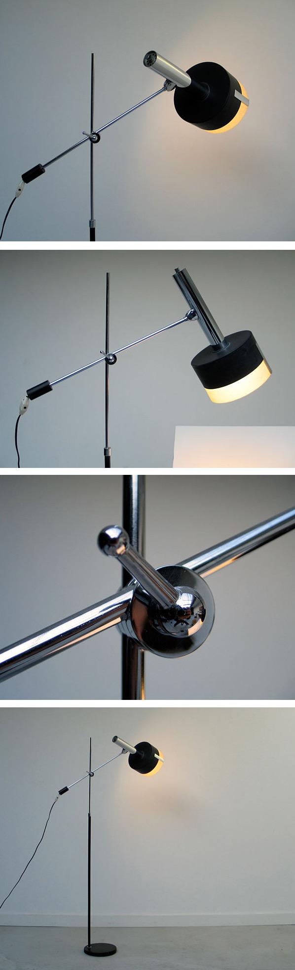 Black Architectural Floor lamp 1960 Large
