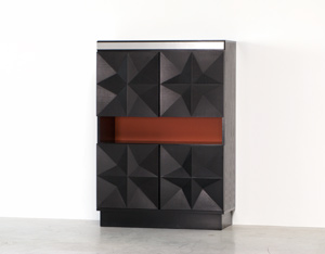 Black graphic modern highboard