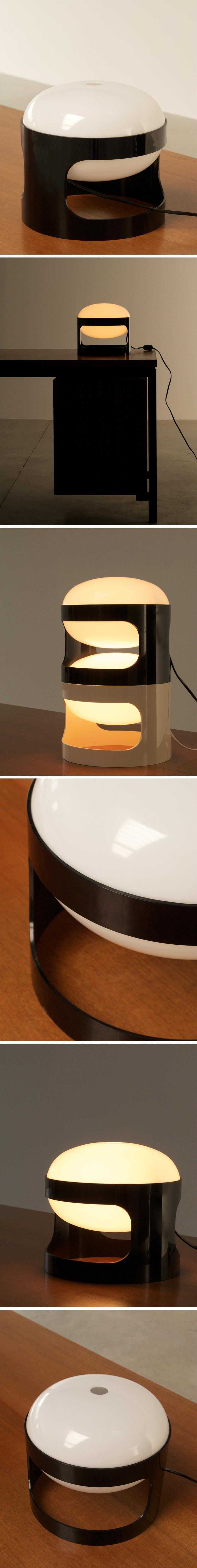 Black KD27 Joe Colombo Kartell table lamp Large