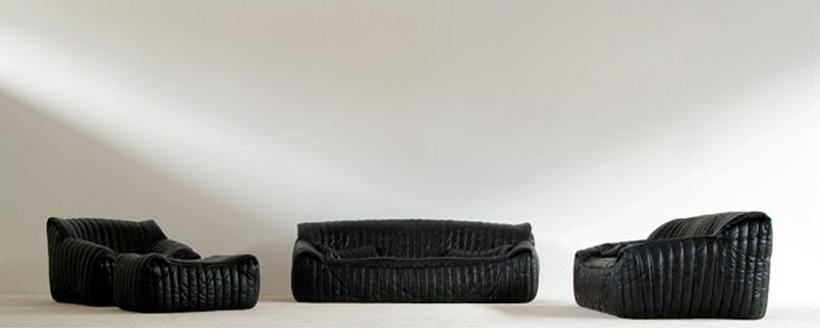 Black Leather Living scape Cinna Annie Hieronimus Ligne Roset