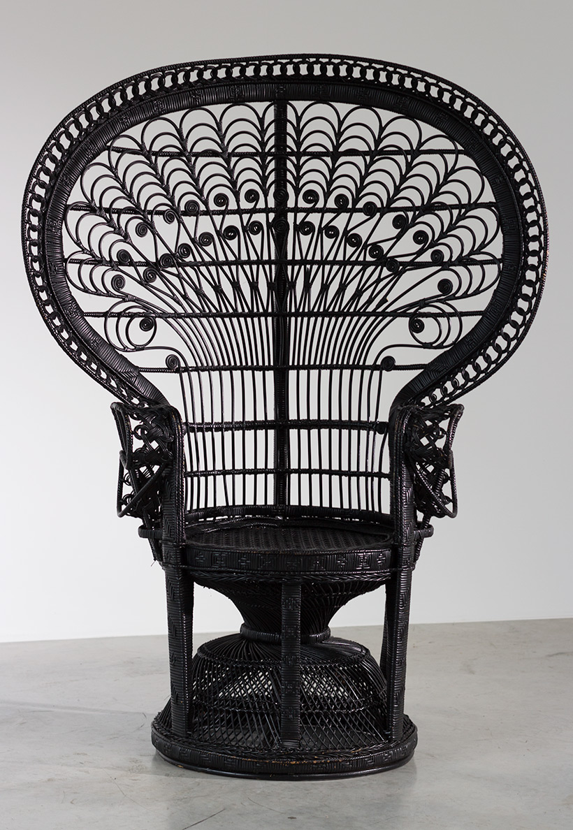 Black Peacock chair or Emmanuelle chair 1970