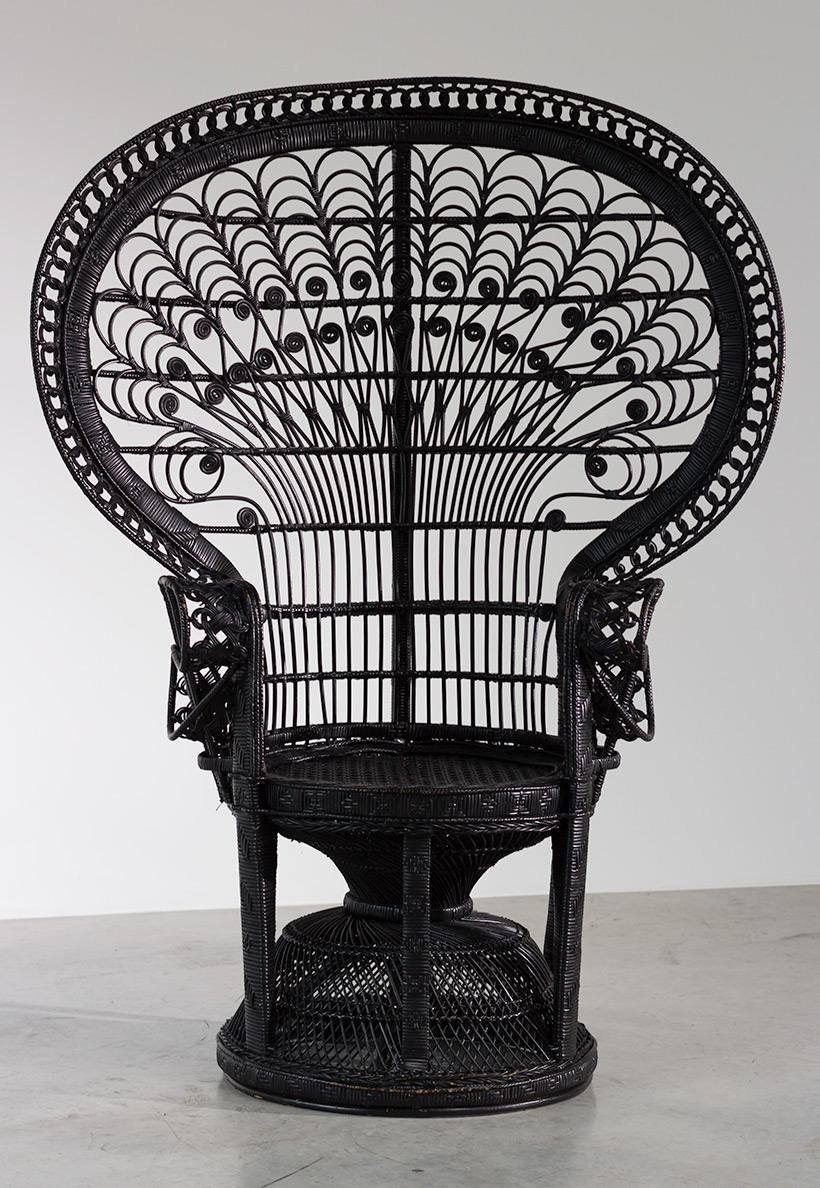 black peacock chair or emmanuelle chair 1970 furniture love. Black Bedroom Furniture Sets. Home Design Ideas