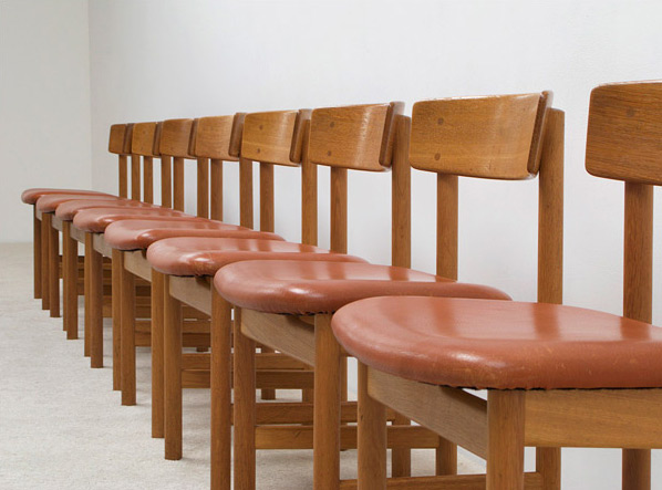 Borge Mogensen 8 dinning chairs model 3236