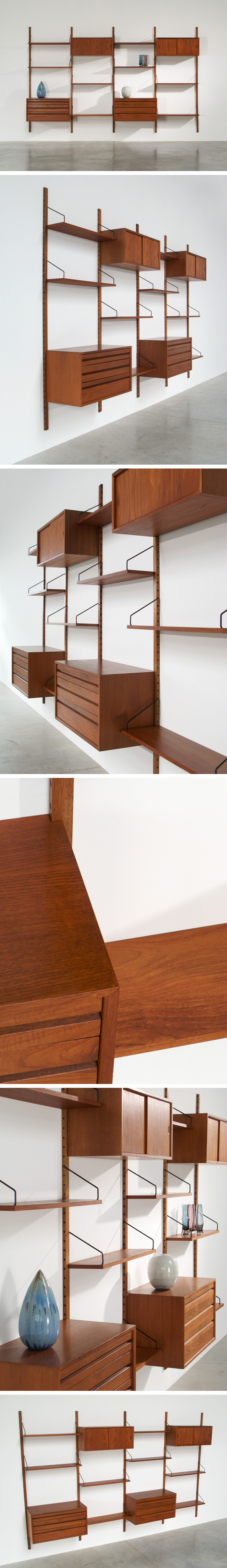Cadovius Poul modular Wall Unit for Royal System Large