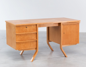 Cees Braakman Birch wood office desk UMS Pastoe Utrecht