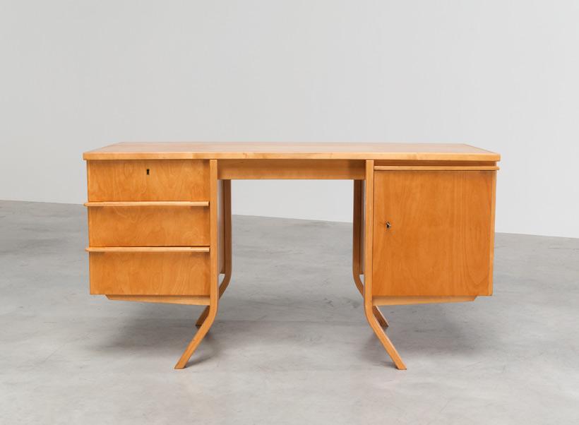 Cees Braakman Birch wood office desk UMS Pastoe Utrecht