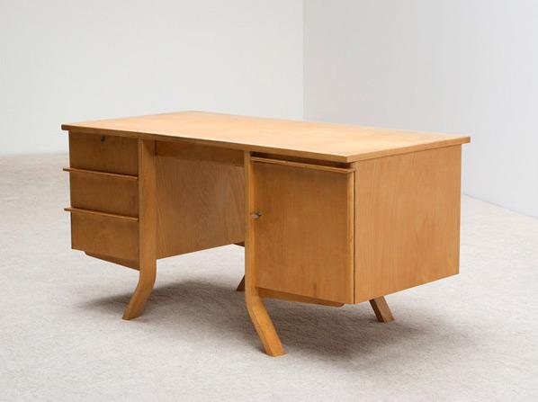 Cees Braakman Birch wood office desk UMS Pastoe