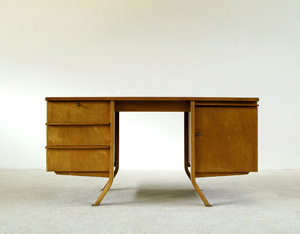 Cees Braakman Birch wood writing desk UMS Pastoe