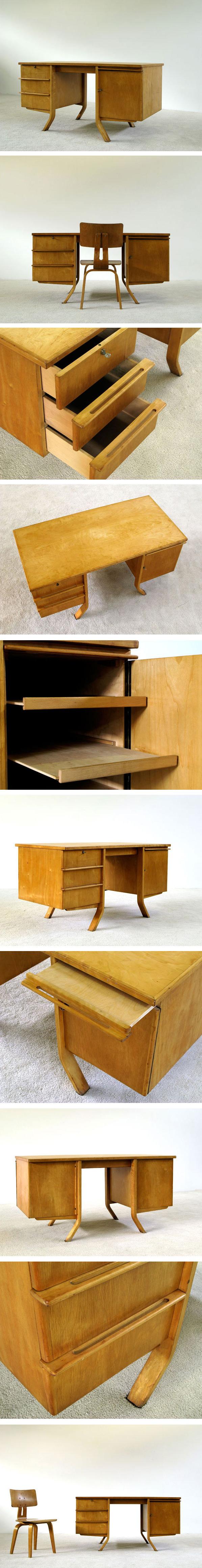 Cees Braakman Birch wood writing desk UMS Pastoe Large