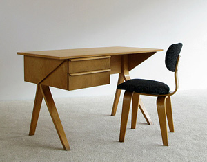 Cees Braakman EB02 writing desk and SB03 chair UMS Pastoe