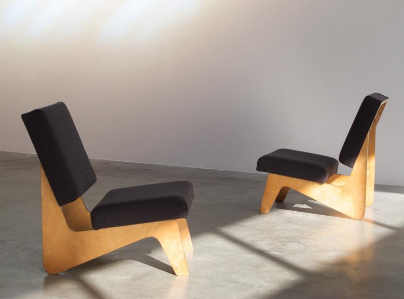 Cees Braakman pair of FB03 lounge chairs Combex series