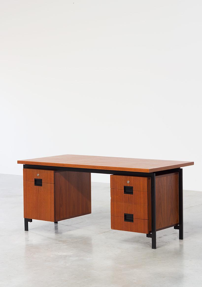 Cees Braakman teak Desk EU02 from the Japanese series UMS Pastoe img 4