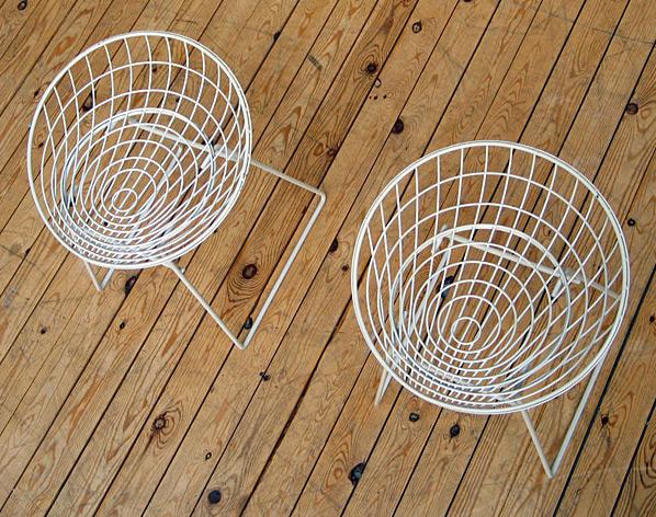 Cees Braakman UMS-Pastoe 2 wire stools 1960