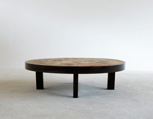 Ceramic Coffee Table Le Duc Raymond Vallauris 1960