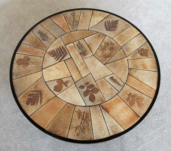 Ceramic Coffee Table Le Duc Raymond Vallauris 1960