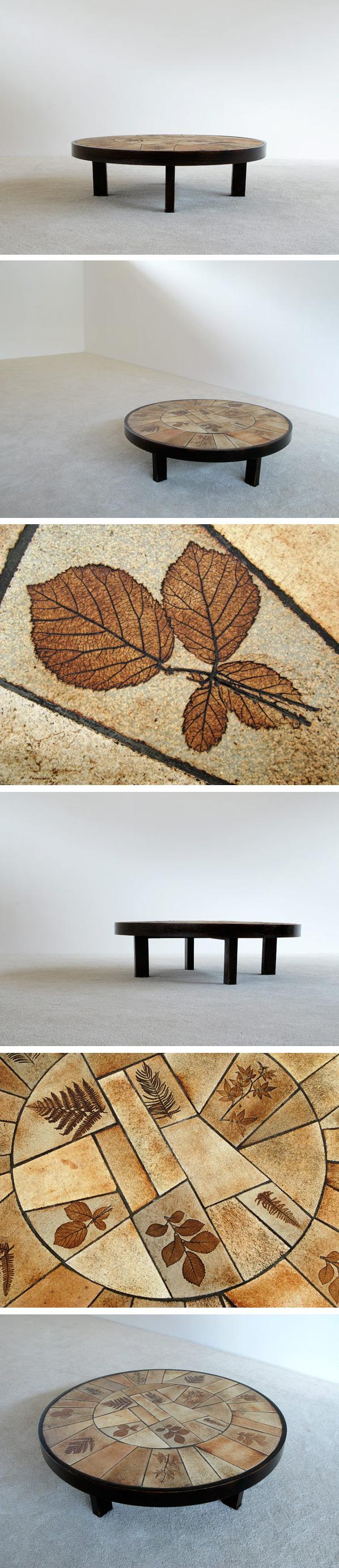 Ceramic Coffee Table Le Duc Raymond Vallauris 1960 Large