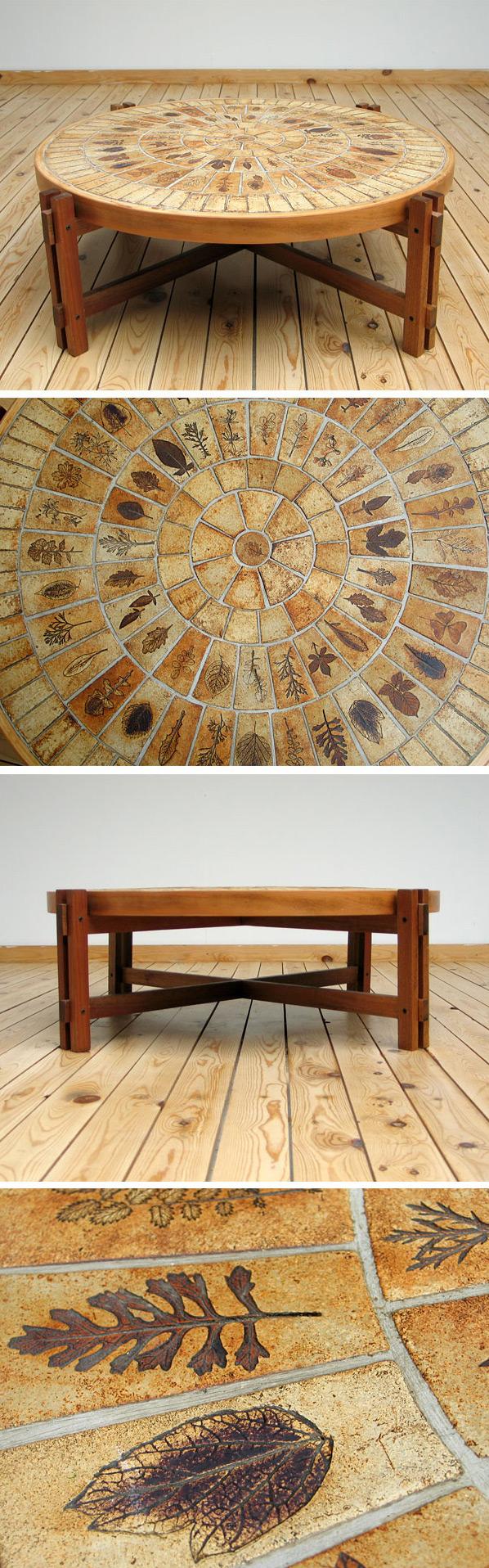 Ceramic Coffee Table Roger Capron Vallauris 1960 Large