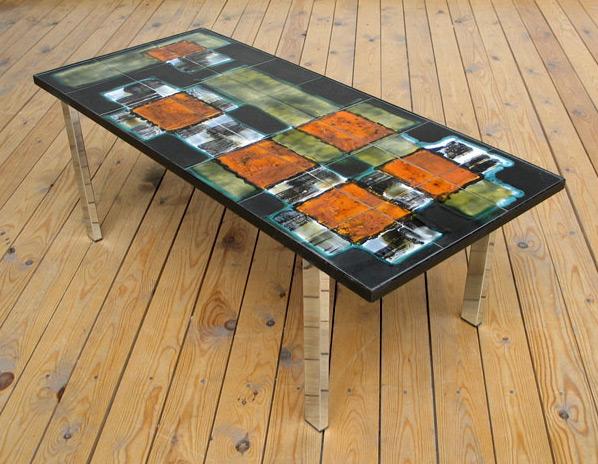 Ceramic coffee table signed Belarti 1970