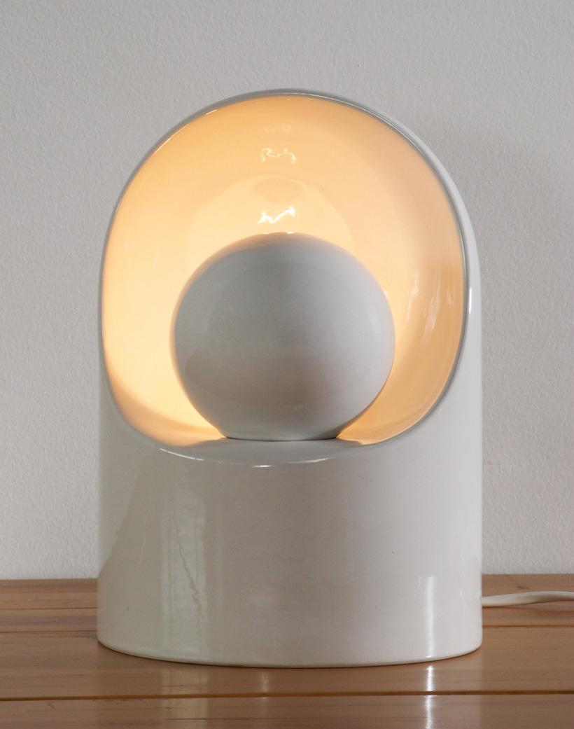 Ceramic lamp Marcello Cuneo for Gabianelli