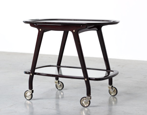 Cesare Lacca Italian bar cart with serving tray