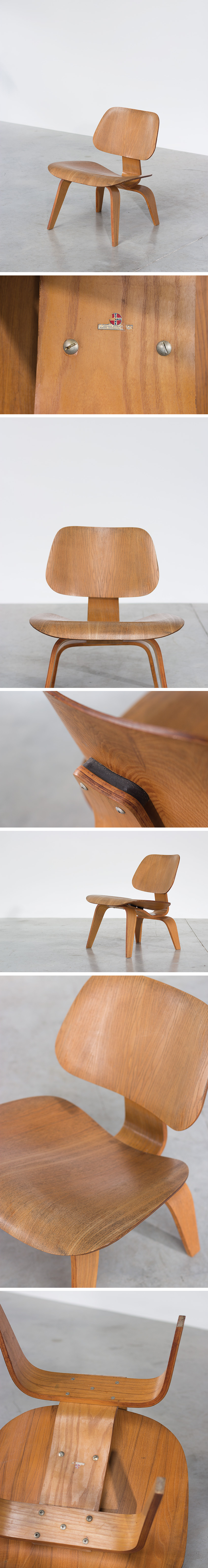 Charles eames plywood chair lcw evans products company - Chaise eames belgique ...