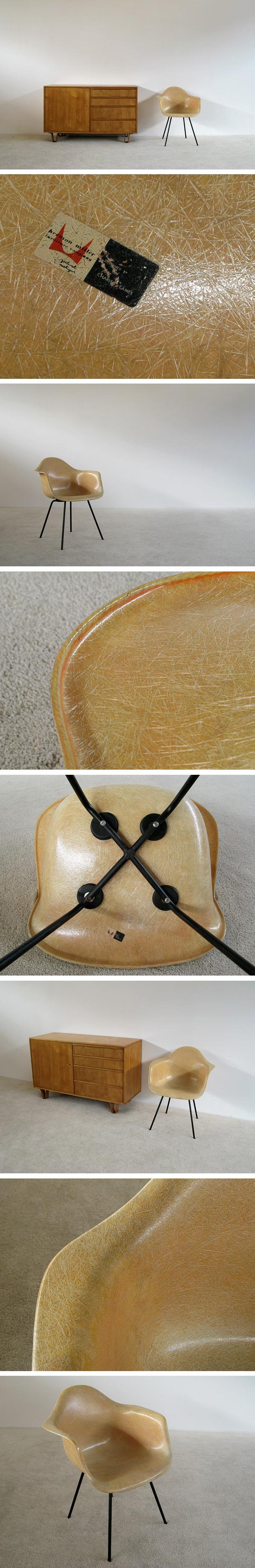 Charles Eames Zenith Herman Miller Rope Edge DAX fiberglass chair Large