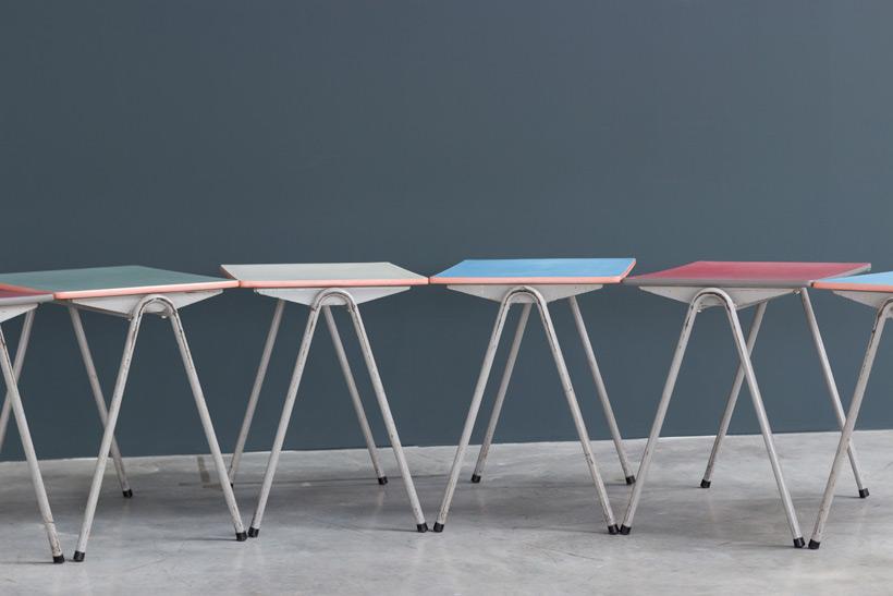 Child table Willy Van Der Meeren Industrial 1950 Large
