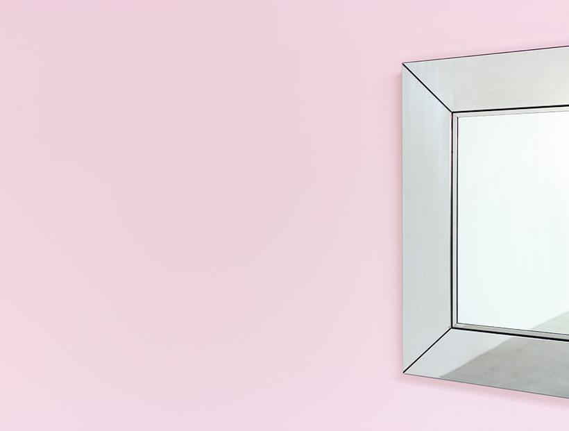 Cidue chrome decorative modern mirror Italy 1970s