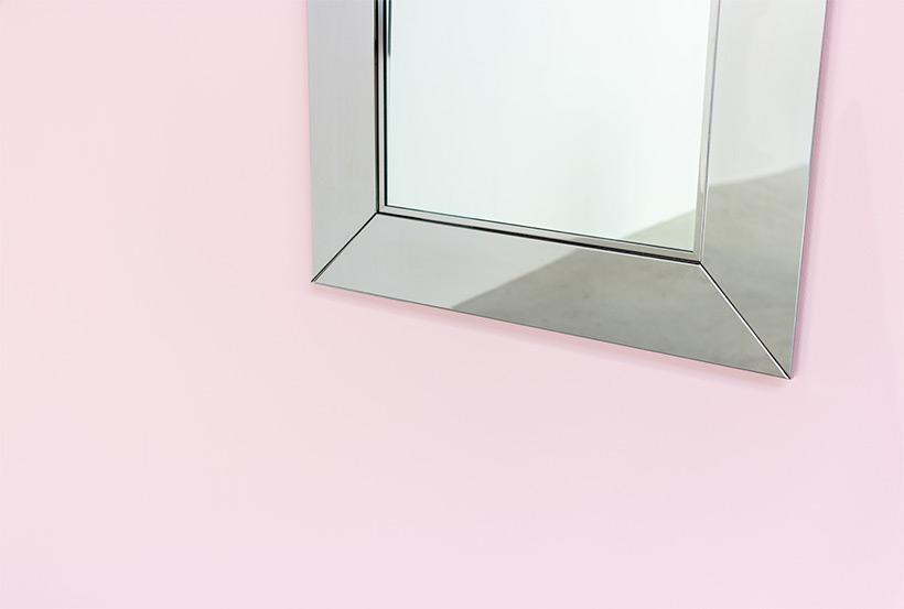 Cidue chrome decorative modern mirror Italy 1970s img 4