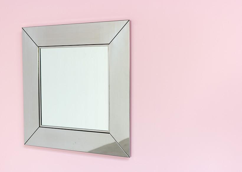 Cidue chrome decorative modern mirror Italy 1970s img 5