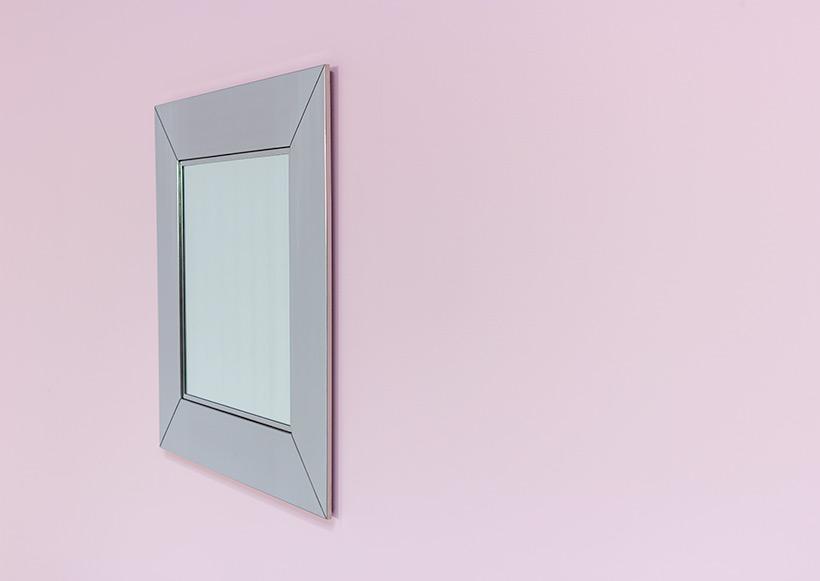 Cidue chrome decorative modern mirror Italy 1970s img 7