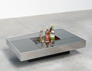 Cidue Cocktail table with mirror top central planter