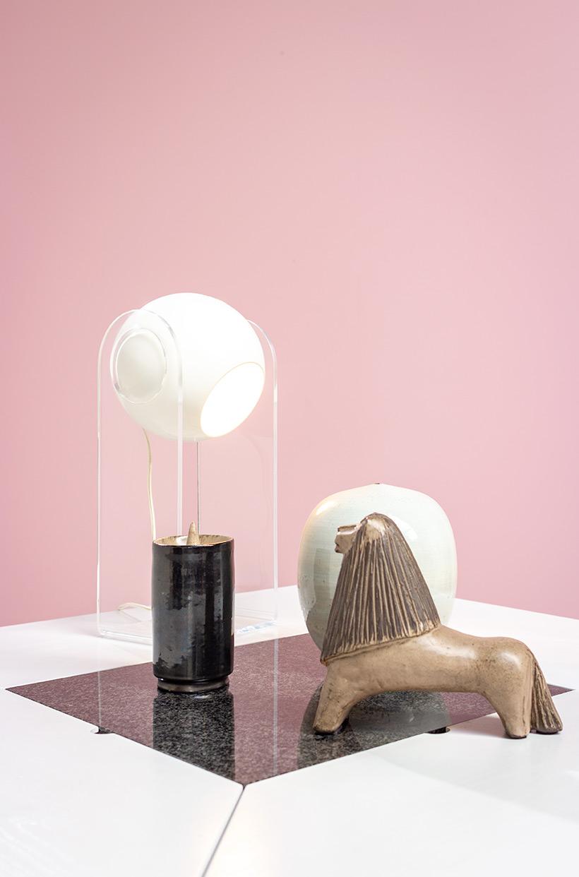 Cirkante postmodern white table Bob Van Den Berghe Pauvers 1976 img 10