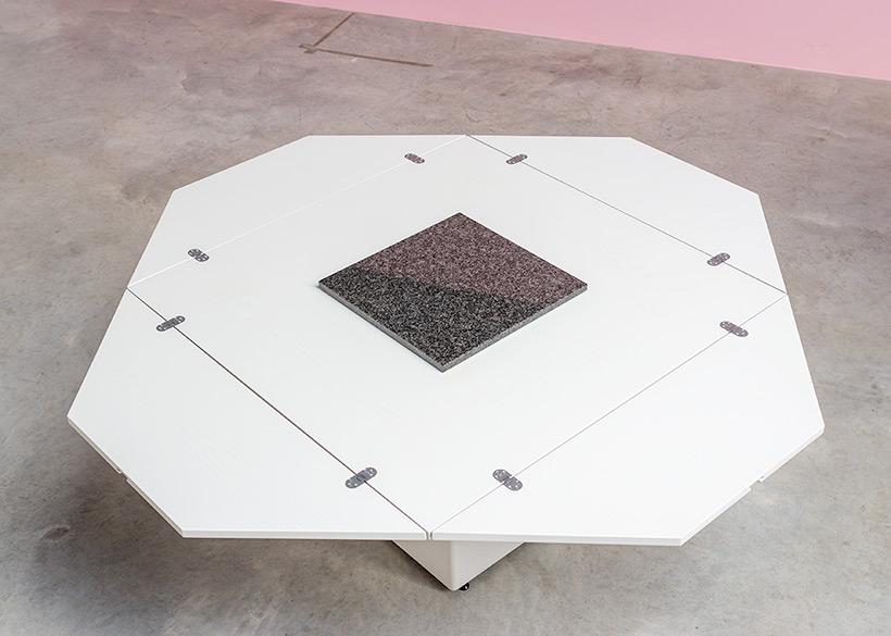 Cirkante postmodern white table Bob Van Den Berghe Pauvers 1976 img 3