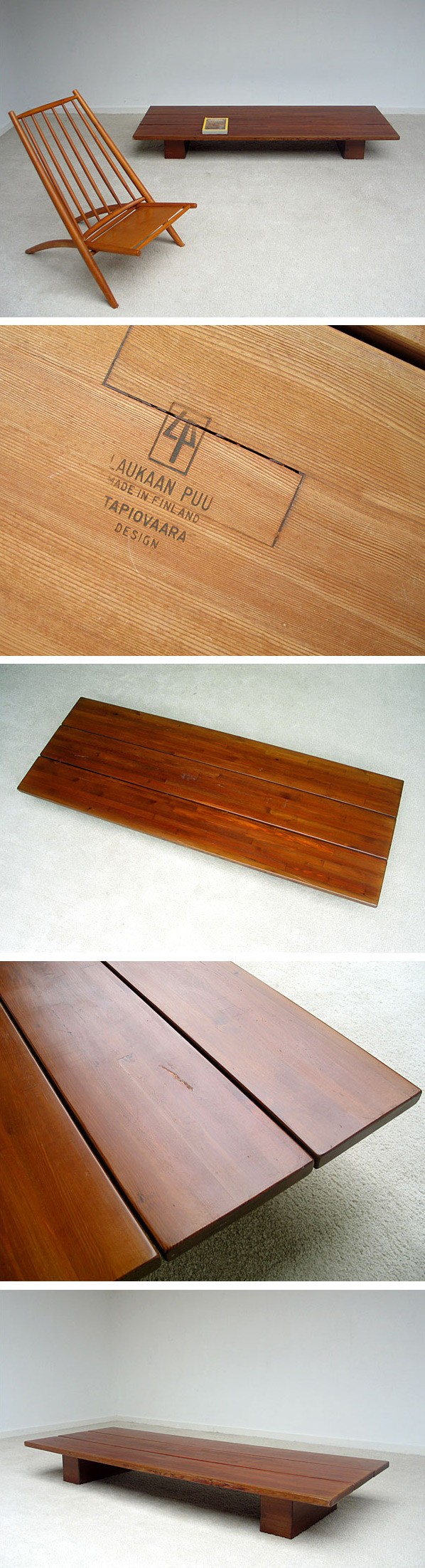 Coffee table Ilmari Tapiovaara Finland 1955 Large