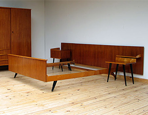 Complete Danish modern teak bedroom eames era