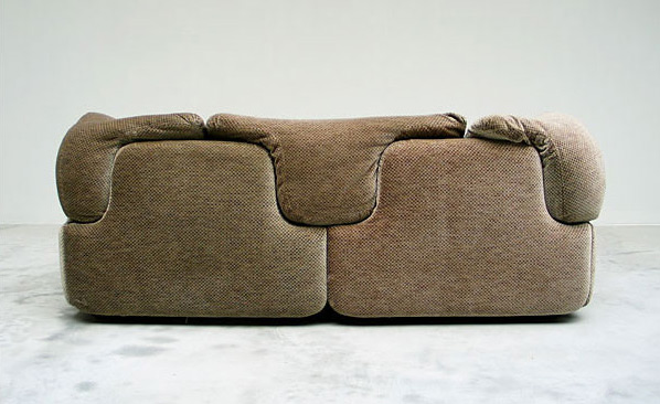 Confidential sofa 2 seater Saporiti Italia Alberto Rosselli