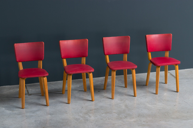 Cor Alons 4 multiplex plywood dinning chairs De Boer img 4