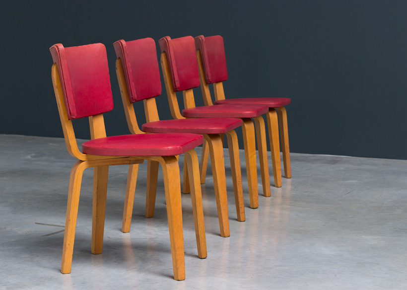 Cor Alons 4 multiplex plywood dinning chairs De Boer img 5