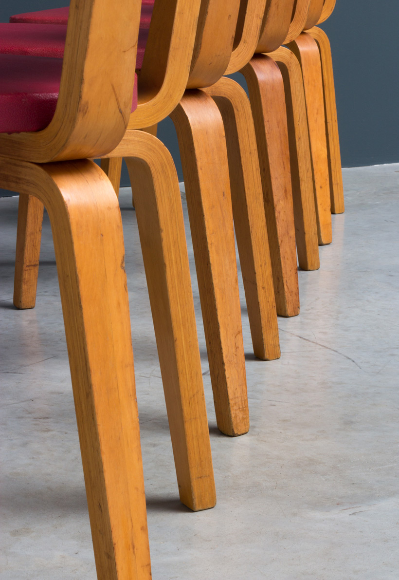 Cor Alons 4 multiplex plywood dinning chairs De Boer img 6