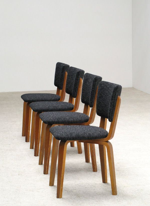 Cor Alons 4 multiplex plywood dinning chairs