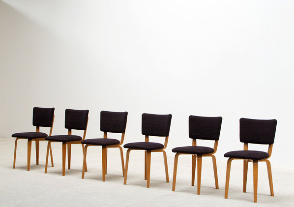 Cor Alons 6 multiplex plywood dinning chairs