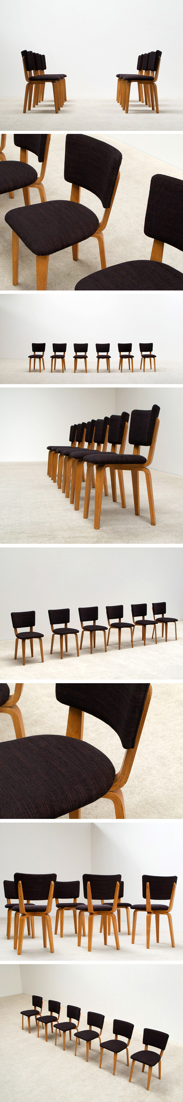 Cor Alons 6 multiplex plywood dinning chairs Large