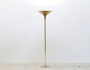 Danish modern floor lamp made of brass