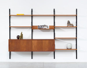 Danish Modern teak wall unit by Poul Cadovius Royal System