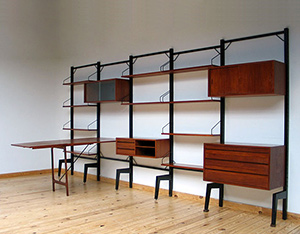 Danish modern wall unit ROYAL SYSTEM Design Poul Cadovius