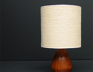 Danish Modern wooden Kagan table lamp eames era