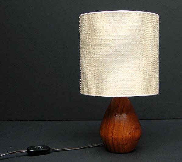 Danish Modern wooden Kagan table lamp eames era
